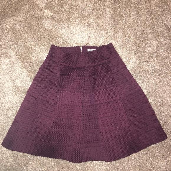 e7343c48aa Charlotte Russe Skirts   Textured Burgundy Ballerina Style Skirt ...